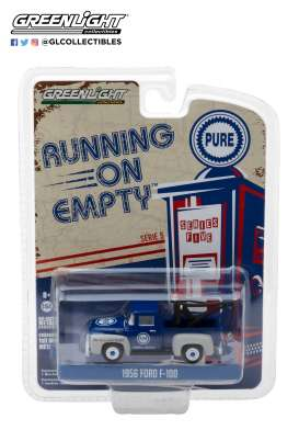 Ford  - F-100 1956 blue - 1:64 - GreenLight - 41050A - gl41050A | The Diecast Company