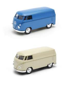 Volkswagen  - blue/cream - 1:34 - Welly - welly49764PV | The Diecast Company