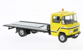 IXO Models - Mercedes  - ixclc209 : 1980 Mercedes L608 D flatbed, yellow