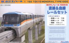 Fujimi - Monorail  - fuji910031 : Tokyo Monorail Type1000 Straight and Curve Set, plastic modelkit