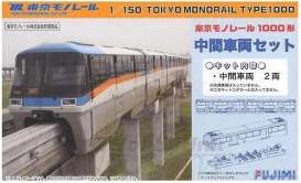 Fujimi - Monorail  - fuji910017 : Tokyo Monorail Type1000 Middle Coach Set, plastic modelkit