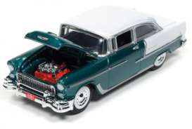 Chevrolet  - 1955 Neptune Green & White - 1:64 - Racing Champions - RC002A7 | The Diecast Company
