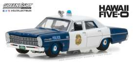 Ford  - Custom Police 1967 blue/white - 1:64 - GreenLight - gl44800A | The Diecast Company