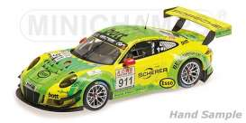 Porsche  - 2017 yellow/green - 1:18 - Minichamps - 155176991 - mc155176991 | The Diecast Company