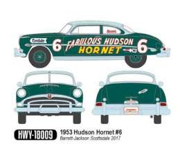 Hudson  - Hornet 1953 green/grey - 1:18 - Highway 61 - hwy18009 | The Diecast Company