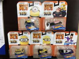 Hotwheels - Assortment/ Mix  - hwmvDMH73-999E~8 : 1/64 *Dispicable Me 3* assortment. Mix box of 8
