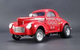 Willys  - 1941 red - 1:18 - Acme Diecast - acme1800908 | The Diecast Company