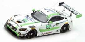 Mercedes Benz  - 2017 white/green - 1:43 - Spark - us029 - spaus029 | The Diecast Company