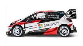 IXO Models - Toyota  - ixram648 : 2017 Toyota Yaris WRC - Rallye WM Sweden Latvala/Antilla/Hanninen/Lindström includes decals for No10 and No11,  white/red/black