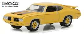 Oldsmobile  - 1970 sebring yellow - 1:64 - GreenLight - 13210C - gl13210C | The Diecast Company