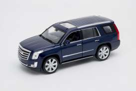 Cadillac  - Escalade 2017 blue - 1:24 - Welly - 24084b - welly24084b | The Diecast Company