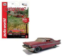 Plymouth  - 1958 red/white - 1:64 - Auto World - AWCP7440 | The Diecast Company