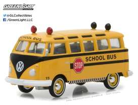 GreenLight - Volkswagen  - gl29890B : 1964 Volkswagen Samba Bus, yellow/black