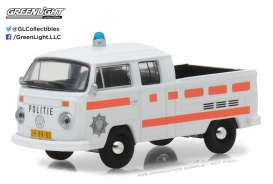 GreenLight - Volkswagen  - gl29890E : 1977 Volkswagen Type 2 Crew Cab Pick-Up - Rotterdam Police, white