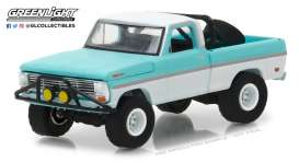 Ford  - 1969 blue/white - 1:64 - GreenLight - gl35090A | The Diecast Company