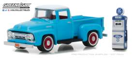 Ford  - F-100 1954 light blue/white - 1:64 - GreenLight - gl97030A | The Diecast Company