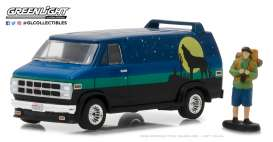 GMC  - Vandura 1981 blue/green/black - 1:64 - GreenLight - gl97030C | The Diecast Company