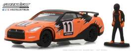 Nissan  - Skyline 2011 orange/black - 1:64 - GreenLight - gl97030E | The Diecast Company