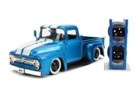 Ford  - F-100 pick-up 1956 blue/white - 1:24 - Jada Toys - 31541 - jada31541 | The Diecast Company