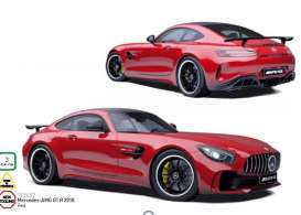 Mercedes Benz  - 2018 red - 1:18 - Norev - nor183452 | The Diecast Company