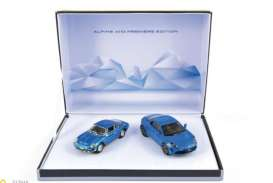 Norev - Renault  - nor517860 : 1973 & 2017 Coffret Alpine A110, blue