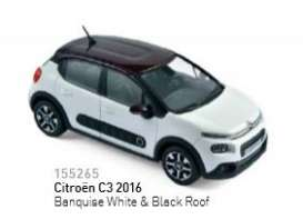 Norev - Citroen  - nor155265 : 2016 Citroën C3, banquise white/black roof