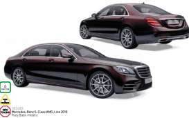 Mercedes Benz  - 2017  ruby black metallic - 1:18 - Norev - nor183483 | The Diecast Company