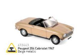 Peugeot  - 1967 beige metallic - 1:43 - Norev - nor472443 | The Diecast Company