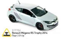 Renault  - 2014 pearl white - 1:43 - Norev - nor517704 | The Diecast Company