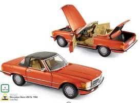 Mercedes Benz  - 1986 inca red - 1:18 - Norev - nor183467 | The Diecast Company
