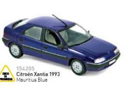 Citroen  - Xantia 1993 mauritius blue - 1:43 - Norev - nor154205 | The Diecast Company