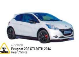 Peugeot  - 2014 pearl white - 1:43 - Norev - nor472828 | The Diecast Company