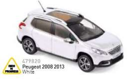 Peugeot  - 2013 white - 1:43 - Norev - nor479820 | The Diecast Company
