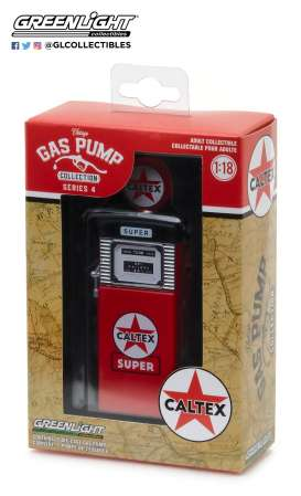 "GreenLight - Accessoires diorama - gl14040B : 1:18 Vintage Gas Pumps Series 4 - 1951 Wayne 505 Gas Pump Caltex ""Super"""