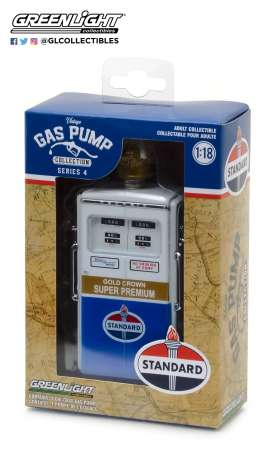 "GreenLight - Accessoires diorama - gl14040C : 1:18 Vintage Gas Pumps Series 4 - 1954 Tokheim 350 Twin Gas Pump Standard Oil ""Gold Crown Super Premium"""