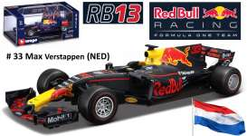 Renault  - RB13F1 Red Bull Racing #33 2017 blue/red - 1:32 - Bburago - bura41233V | The Diecast Company