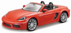 Porsche  - orange - 1:24 - Bburago - bura21087O | The Diecast Company