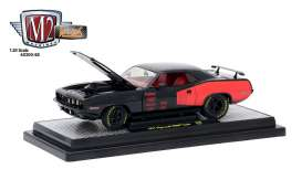 M2 Machines - Plymouth  - M2-40300-58A : 1971 Plymouth Hemi Cuda *Mooneyes*, black/red