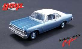 Chevrolet  - Nova 1970 blue with white roof - 1:43 - GMP - gmp14308 | The Diecast Company