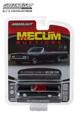 Lincoln  - Continental Convertible 1965 black - 1:64 - GreenLight - 37140A - gl37140A | The Diecast Company