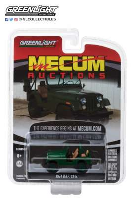 Jeep  - CJ-5 1974 green - 1:64 - GreenLight - 37140D - gl37140D | The Diecast Company