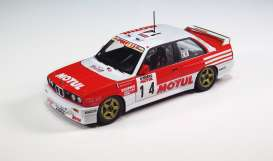 BMW  - M3 E30 #9 1988 red/white - 1:24 - Beemax - bmx24016 | The Diecast Company