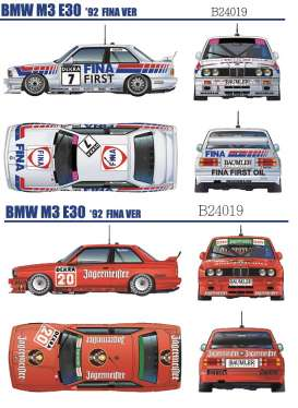 BMW  - M3 E30 #2  1992 white/red/blue - 1:24 - Beemax - 24019 - bmx24019 | The Diecast Company