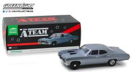 Chevrolet  - Impala Sport Sedan 1967 blue-grey - 1:18 - GreenLight - 19047 - gl19047 | The Diecast Company