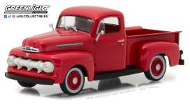 Ford  - F-1 1951 coral flame - 1:43 - GreenLight - 86316 - gl86316 | The Diecast Company