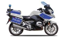 Maisto - BMW  - mai15953D : 1/18 BMW R1200 RT Polizei Authority, silver/blue