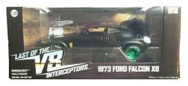 Ford  - Falcon XB  1973 black/green - 1:24 - GreenLight - 84051GM - gl84051GM | The Diecast Company