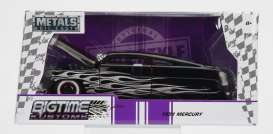 Jada Toys - Mercury  - jada99060bk : 1951 Ford Mercury, black with silver flames