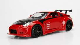 Jada Toys - Nissan  - jada99110r : 2003 Nissan 350Z, red with black rims