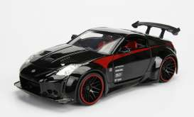 Nissan  - 2003 black/red - 1:24 - Jada Toys - jada99110bk | The Diecast Company